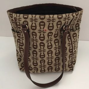 Etienne Aigner brown and tan purse